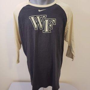 Wake Forest University Nike 3/4 Sleeve XL